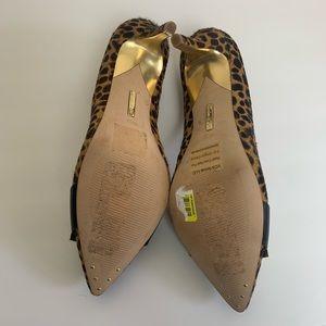 Louise et Cie Leapard print heels real calf hair